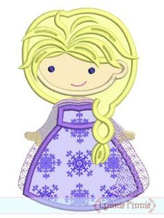 Winter Queen Cutie Applique 4x4 5x7 6x10 SVG