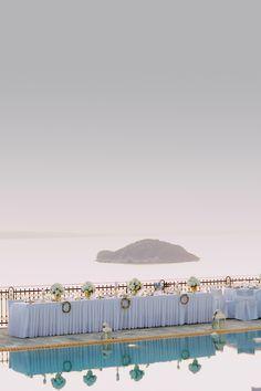 greece pool wedding greece wedding reception