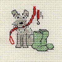 Mouseloft Stitchlet Cross Stitch Little Dog Range Walkies