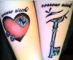 Matching Tattoos Lock and Key