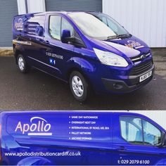 Apollo's brand new van; ideal for our guaranteed same day service!