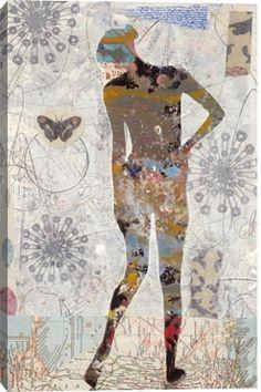 Gallery Direct Fine Art Prints: Rio Ii by Judy Paul Mix Media, Mixed Media Art, Kunst Online, Gelli Arts, Encaustic Art, Motif Floral, Art Journal Inspiration, Art Plastique, Figure Painting