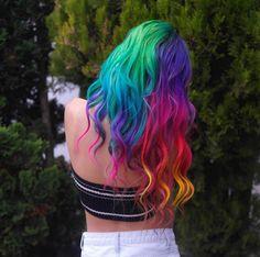 the best rainbow hair I've seen ever
