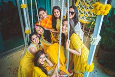 One time when yellow yellow is not a dirty fellow is during the Haldi! Yes, haldi photos look amazing when all you see is yellow, and these photos here are perfect examples of how to do it right! Bengali Bride, Bengali Wedding, Saree Wedding, Marathi Bride, Punjabi Bride, Wedding Mandap, Dress Wedding, Wedding Makeup Blue, Bridal Makeup