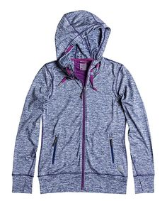 Look at this Roxy Gray & Purple EZ Does It Hoodie - Women on #zulily today!