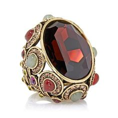 """Shop Heidi Daus """"Unmistakable Panache"""" Crystal-Accented Knuckle Ring, read customer reviews and more at HSN.com."""