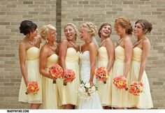 Yellow Themed Wedding Ideas Yellow Wedding Dress  Bridesmaid - Stay at Home Mum