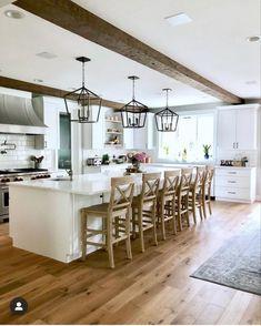 Kitchen design Modern Farmhouse Design, Modern Farmhouse Kitchens, Modern House Design, Home Design, Cool Kitchens, Country Kitchens, Casa Real, Home Staging, Home Interior