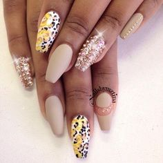 Acrylic Square Tip Nails by Mz.Tina