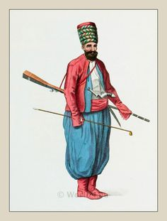 Ottoman Empire Costume. Turkish Military dress.