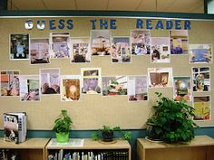 Guess the Reader bulletin board..fun for Open House or Back to School Night.