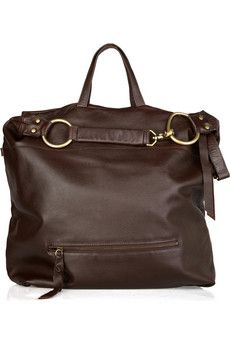 Slouchy textured-leather hobo by Foley + Corinna