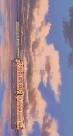 Studio Ghibli Poster, Studio Ghibli Art, Studio Ghibli Movies, Anime Scenery Wallpaper, Pastel Wallpaper, Wallpaper Backgrounds, Screen Wallpaper, Wallpaper Quotes, Aesthetic Anime