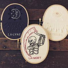 tarot embroidery hoops