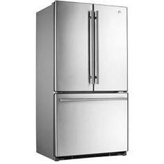 GENERAL ELECTRIC - GFCE1NFSS _ Réfrigérateur 3 portes - Réfrigérateur No-Frost : 399 L - Clayettes verre coulissantes - 2 bacs à légumes à humidité contrôlée - 1 bac à température réglable - 5 étagères de porte - 1 rangement pour canettes. Congélateur No-Frost