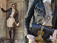 Funny handbag, nice outfit {dress + necklace}