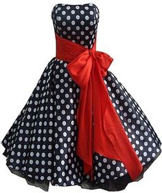 ✤ Fashionista ✤ / 50's style dress with black and white spots