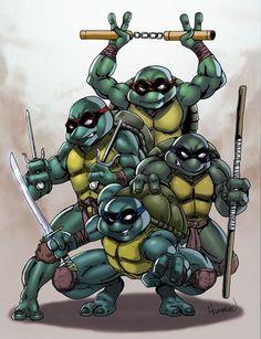 TMNT Art Of Dan, Tmnt, Bowser, Comic Art, Cartoon, Comics, Fictional Characters, Cartoons, Fantasy Characters