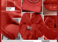#Pantone #FashionSnoops NYFW Fall 2016 Report on #WeConnectFashion. Key Color: Aurora Red