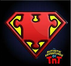 Autistic Adventures of TnT - Autism Hero Logos (Superman)
