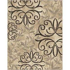 Home decorators collection tiara brown 7 ft 8 in x 10 ft - Better homes and gardens iron fleur area rug ...