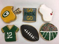 Go Pack Go! Packers Cookies by @cookiesbykatewi #greenbay #packers #aaronrodgers #football #wisconsin