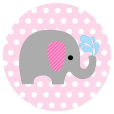 Baby Girl Elephant Stickers in Pink and Polka Dot - Label Party Favors for Baby Girl Shower or Birthday - Set of 50 Baby Girl Shower Themes, Baby Boy Shower, Birthday Crafts, Birthday Party Favors, Burlap Crafts, Paper Crafts, Polka Dot Labels, Scrapbooking Image, Baby Girl Elephant