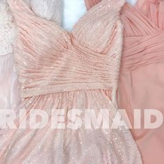 Obsessed with these blushes, pale pinks, and millennial pink bridesmaid dress trends we're seeing! Are you incorporating one of these colors into your wedding? We ❤️ bridesmaids. Dresses are by @billlevkoff #bridesmaiddress #pink #millennialpink #blush