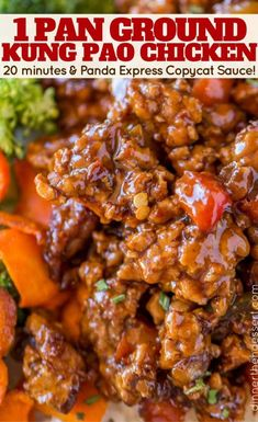20 minutes to make this Ground Kung Pao Chicken with Panda Express Copycat Sauce. 20 minutes to make this Ground Kung Pao Chicken with Panda Express Copycat Sauce! Asian Recipes, Beef Recipes, Cooking Recipes, Healthy Recipes, Healthy Ground Chicken Recipes, Minced Chicken Recipes, Keto Chicken, Filipino Recipes, Copycat Recipes