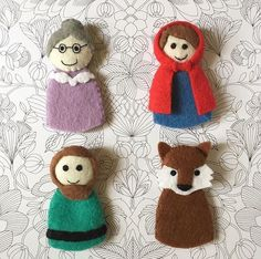 A personal favourite from my Etsy shop https://www.etsy.com/au/listing/463291477/fairytale-finger-puppets-little-red