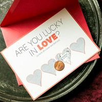 Make your own scratch-off cards.  You don't have to do Valentines - these could be fun for invitations, holidays, birthdays, etc.