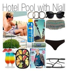 """""""Hotel Pool with Niall"""" by pilar-directioner99 ❤ liked on Polyvore featuring Nivea, Pearls Before Swine, L*Space, River Island, Margarita, Sebastian Professional and H.E.BY MANGO"""