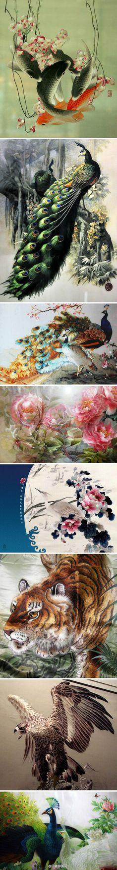 Chinese embroidery has developed since HanDynasty about 250BC..9b699878jw1e9g3yokpdjj20c82ib7qr.jpg 440×3 251 pixels