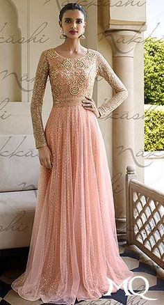 Pink & Gold Gown N3006