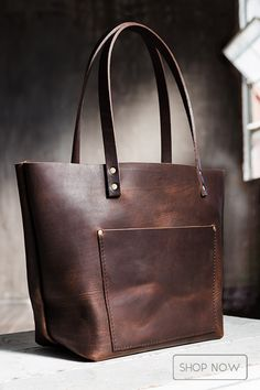 Award-winning leather bags handmade in Portland - Full-grain leather will naturally condition itself with use, developing a much sought-after patina and unique character over time - Perfect travel bag or gift! From $98