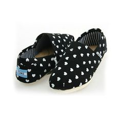 Toms Womens Hearts Classic Shoes Black Hot Sale Online With High Quality, Big Discount And Fast Delivery.