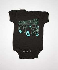 Surf Bus Baby One Piece By Feather 4 Arrow, Surf Inspired Baby Clothing, Baby Bodysuits on Etsy, $20.00