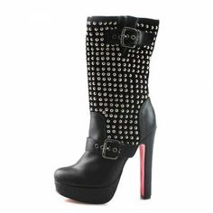 cheap christian louboutin outlet iubt  Cheap Christian Louboutin Akhalil Studded Platform Boots Black Sale : Christian  Louboutin$22969