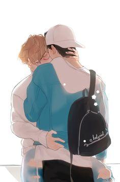 My vibe 🌸🌸🌸 Cute Gay Couples, Anime Couples, Art Gay, Gay Aesthetic, Vkook Fanart, Handsome Anime Guys, Gay Comics, Boy Character, Fan Art