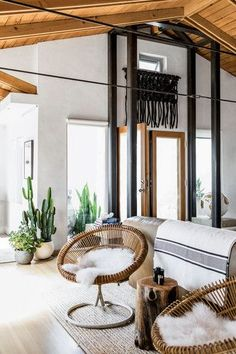 Black and White and Wood Living room