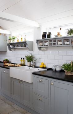 Kitchen Ideas For Kitchen Grey Cupboards Black Worktop How An Adopted Person Can Find Their Birt Grey Kitchen Cupboards, Grey Shaker Kitchen, Shaker Style Kitchen Cabinets, Shaker Style Kitchens, Kitchen Cabinet Styles, Grey Kitchens, Kitchen Black, Grey Cabinets, Kitchen Yellow
