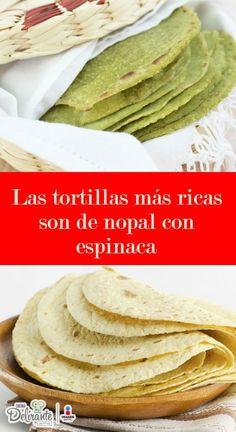 Mexican Cooking, Mexican Food Recipes, Vegetarian Recipes, Dinner Recipes, Keto Tortillas, Healthy Recepies, Healthy Food, Nopales Recipe, Tortilla Wraps
