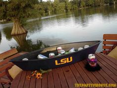 Louisiana Proud! The Party Pirogue is made right here in the heart of Cajun Country.