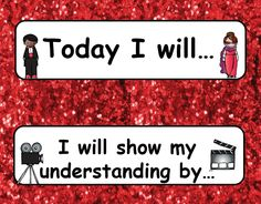 Learning Targets https://www.teacherspayteachers.com/Product/Hollywood-Theme-Bundle-2569382