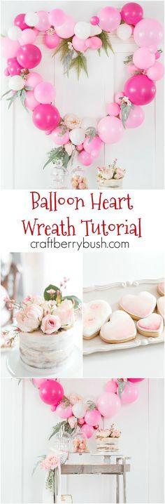 DIY Valentines : DIY Balloon Heart Wreath