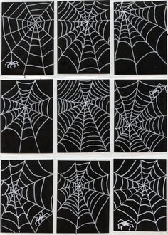 Spiderweb trading cards---white poster marker