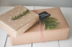 Christmas wrapping with kraft paper