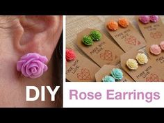 DIY Rose Earrings