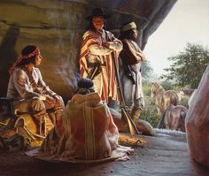 Apache - Waiting Out The Storm Native American Artwork, Native American Artists, American Indians, Indian Artwork, Indian Paintings, Kinkade Paintings, Fierce, Indian Pictures, The Lone Ranger