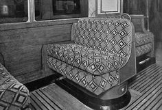 London tube carriage c.1946.  I think I've ridden on this car on the Northern line.
